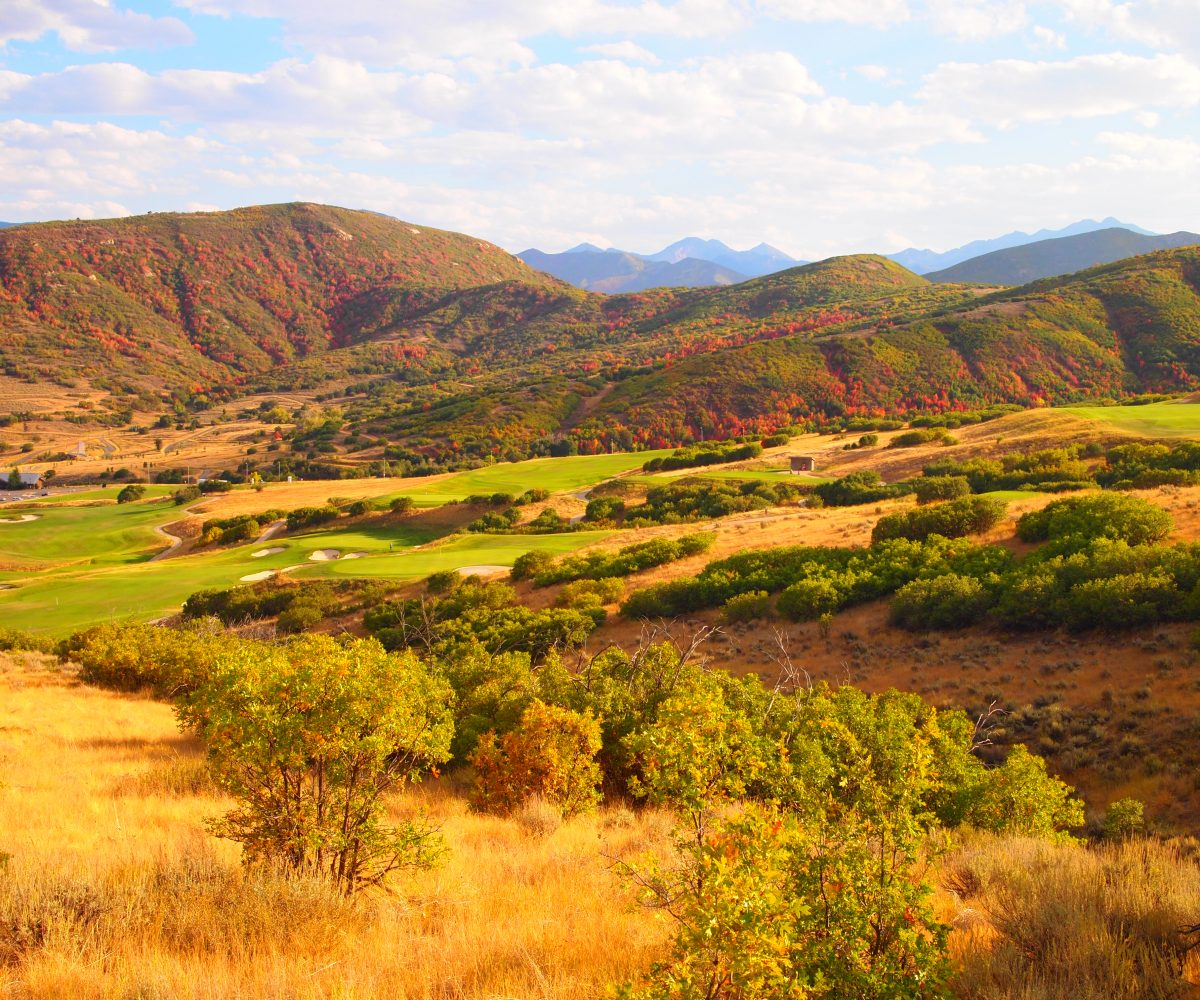 View overlooking Soldier Hollow golf course