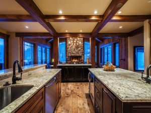 View of kitchen and great room 56 White Pine Canyon Rd