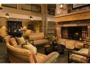 Picture of the 2nd floor lobby in the Grand Summit Hotel Park City
