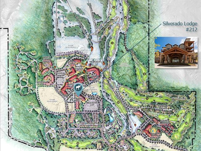 Map of Silverado Lodge Park City