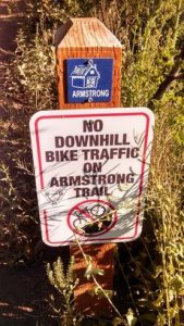 Starting point of Armstrong Trail