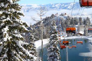 Picture of new snowmaking lake at Canyons Ski Resort