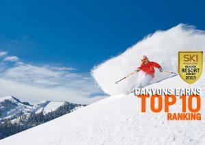 Canyons Ski Resort breaks into the Top 10 in SKI Magazine rankings