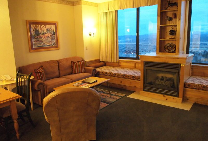 Picture of the living in unit 420 of the Grand Summit Hotel Park City