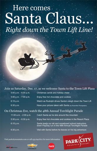 Santa Visits Old Town Park City