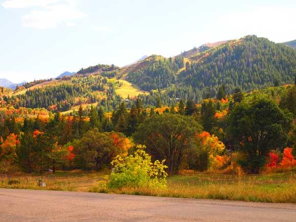 View of Sundance ski resort