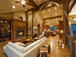Living Room of Promontory Home