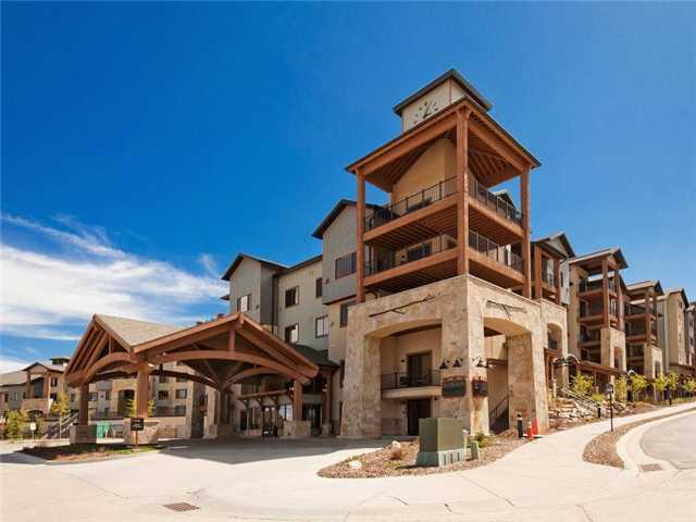North side of Silverado Lodge at Canyons Resort