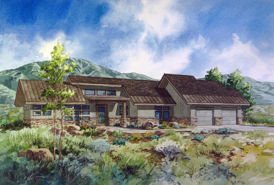 Soaring Hawk Monarch Home Rendering Mountain Home Team Park City Utah