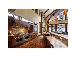 View of kitchen of Timberwolf Estates home in Canyons Resort