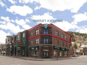 View of Town Lift 3E from Main Street Park City