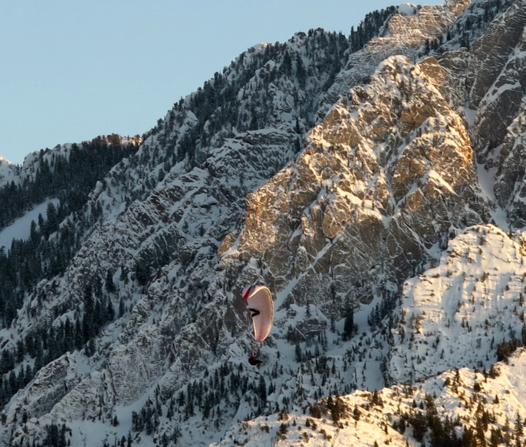 Paragliding in the Wasatch