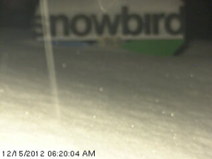 Picture of snow total on Snowbird web cam